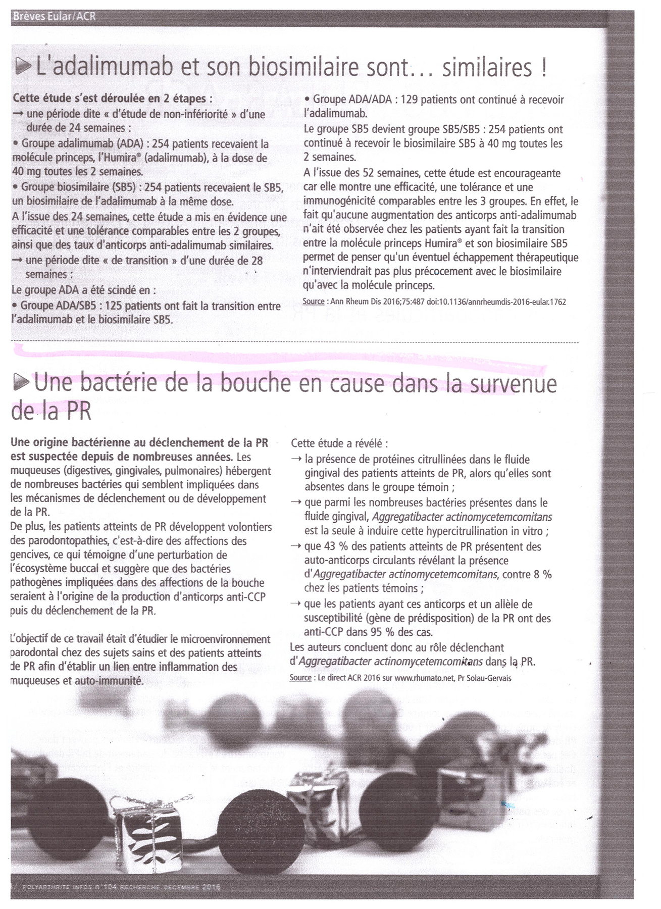 Article de presse - Parodontiste Paris